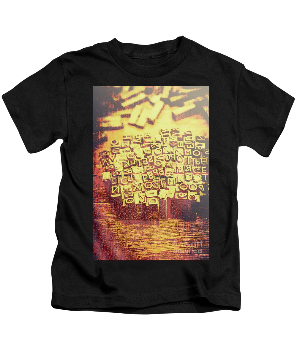 Written Language Photographs Kids T-Shirts