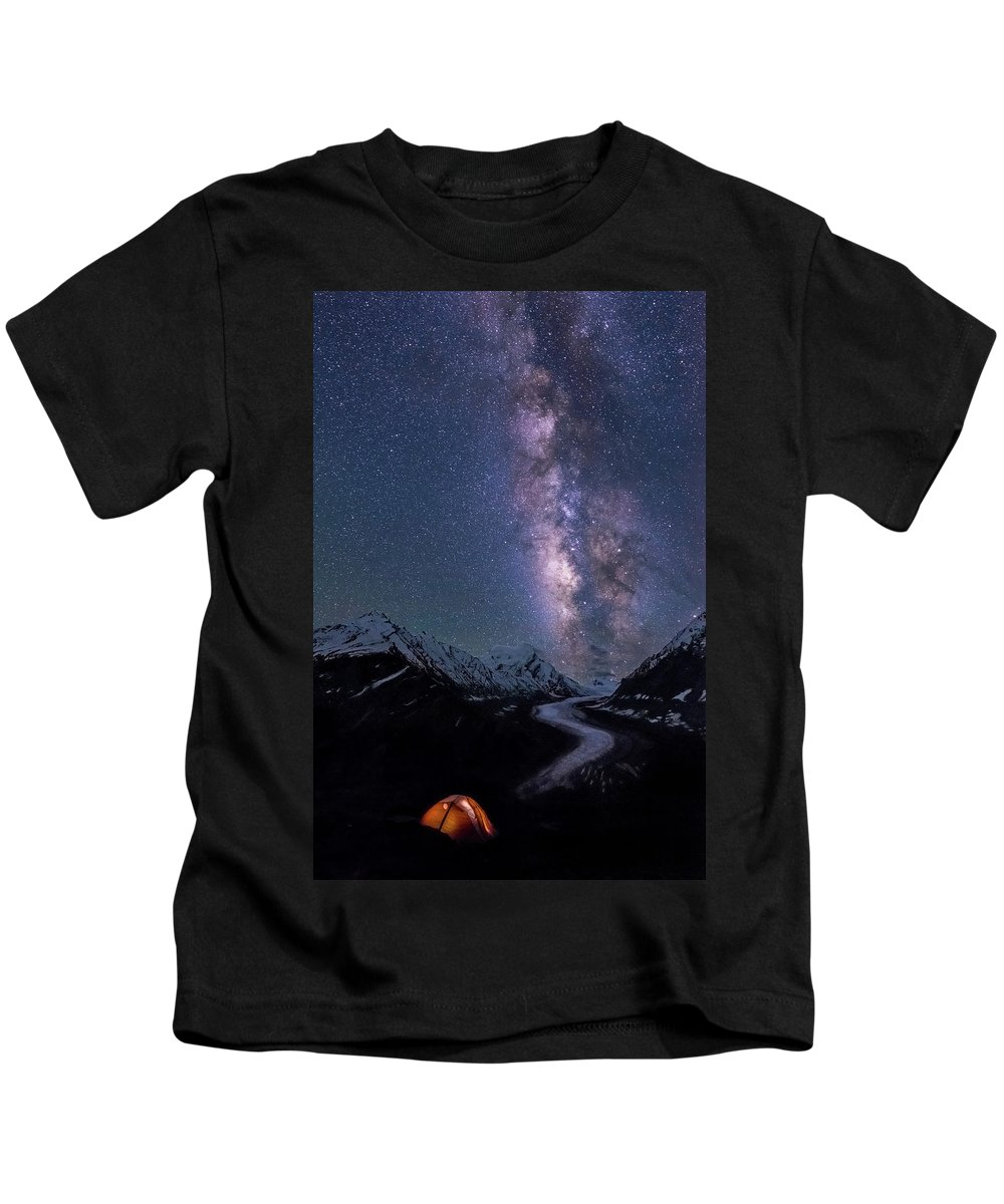 Landscape Kids T-Shirt featuring the photograph Lick Of Flame by Siddhartha De