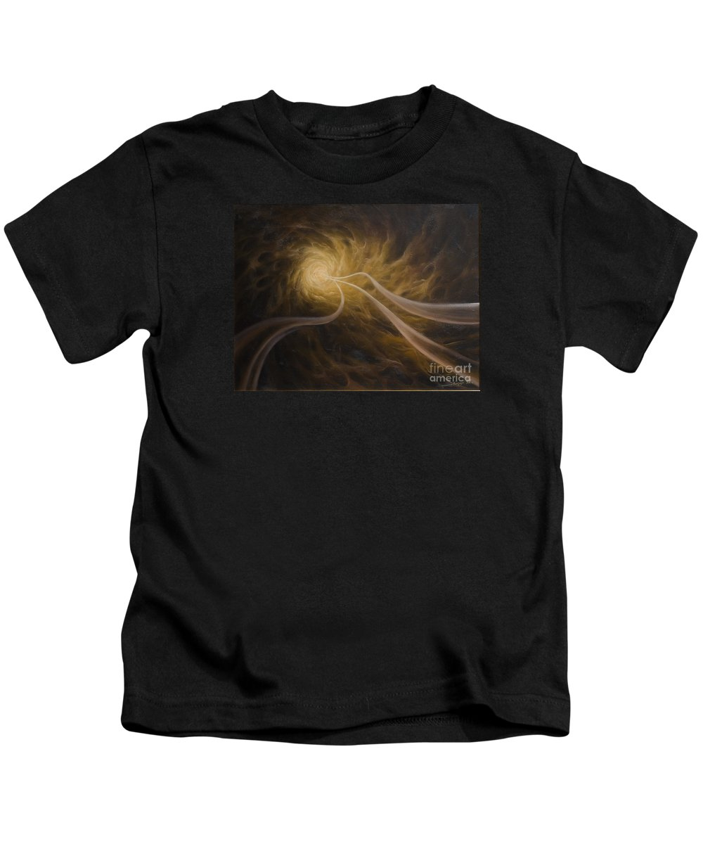 Abstract Kids T-Shirt featuring the painting Life After Death by Arthur Braginsky