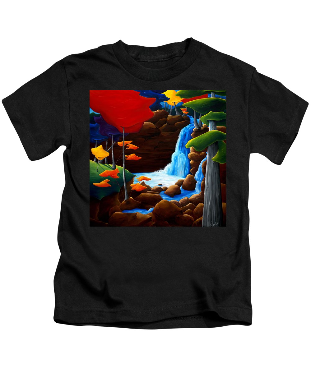 Landscape Kids T-Shirt featuring the painting Life In Progress by Richard Hoedl
