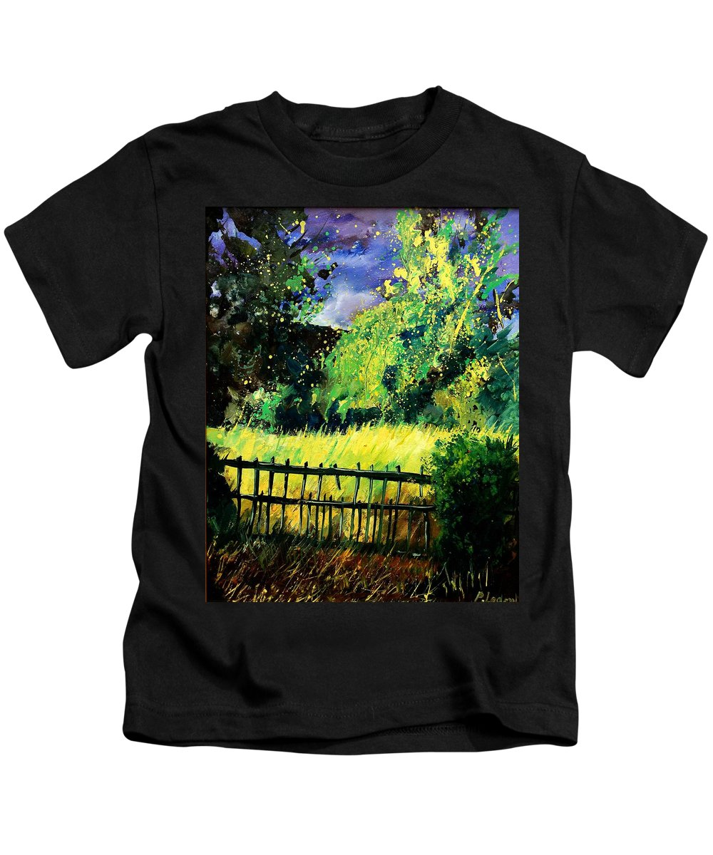 Spring Kids T-Shirt featuring the painting Light Before The Storm by Pol Ledent