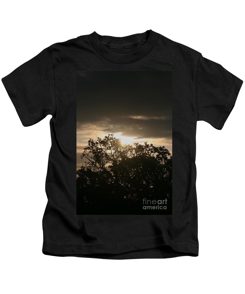 Light Kids T-Shirt featuring the photograph Light Chasing Away The Darkness by Nadine Rippelmeyer