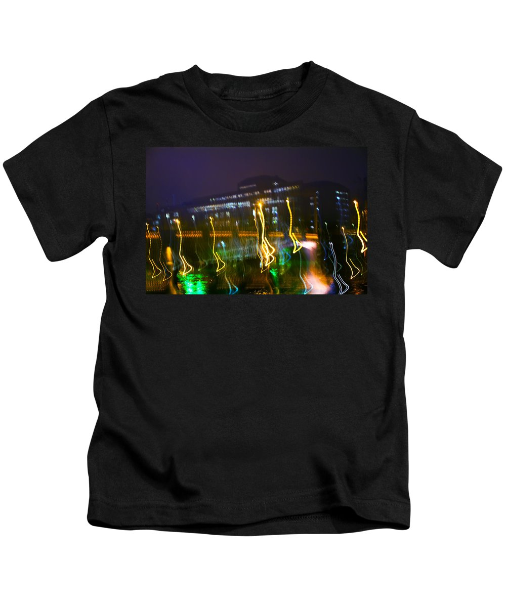 Abstract Kids T-Shirt featuring the photograph Light Ghosts by Alex Art and Photo