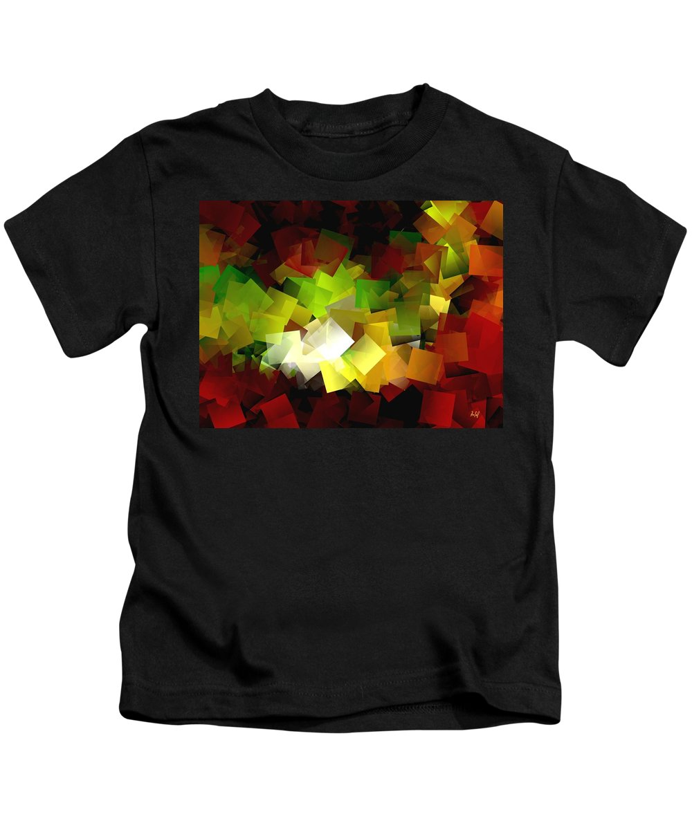 Kubic Kids T-Shirt featuring the digital art Light On The End Of Darkness by Helmut Rottler