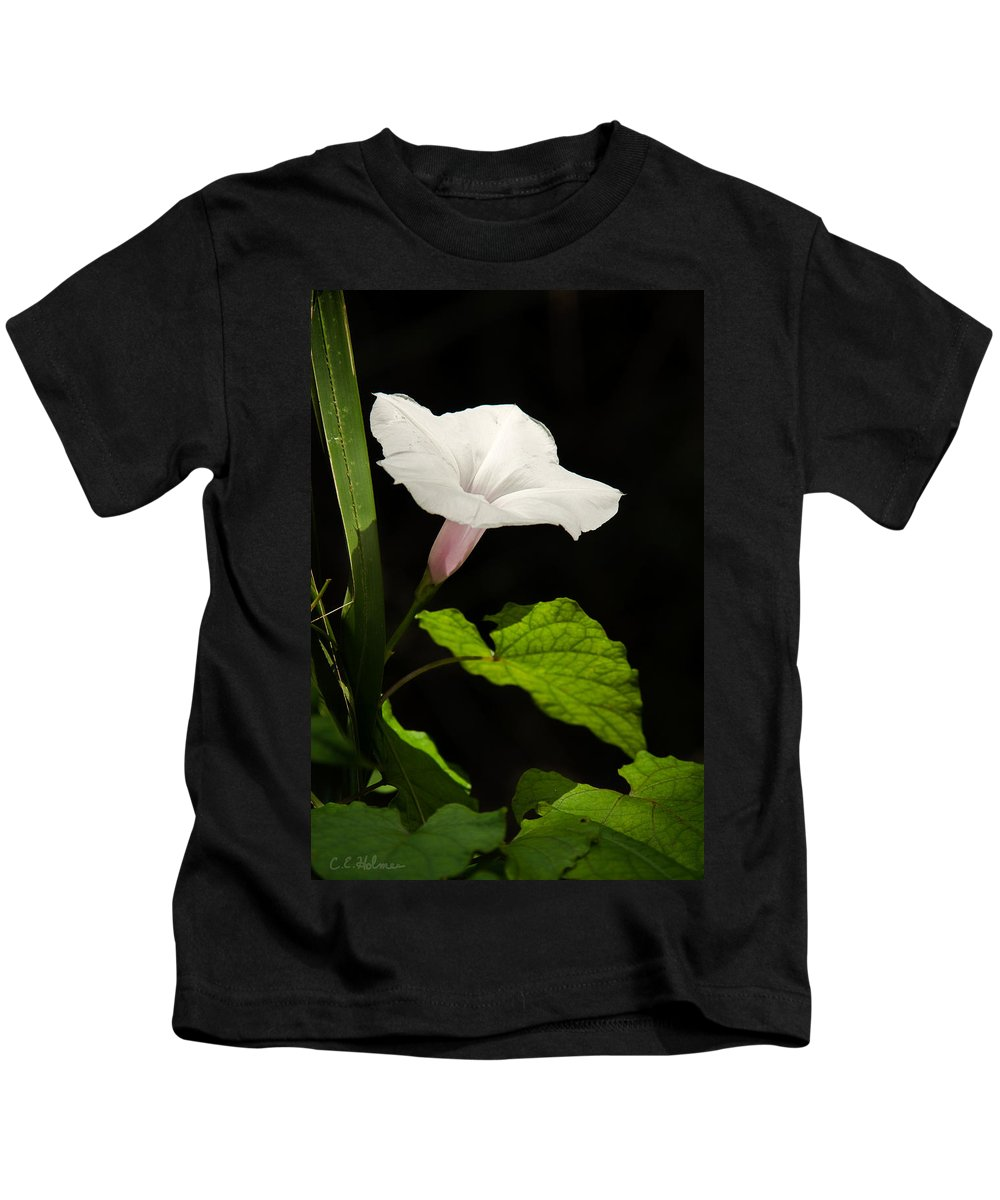 Flower Kids T-Shirt featuring the photograph Light Out Of The Dark by Christopher Holmes