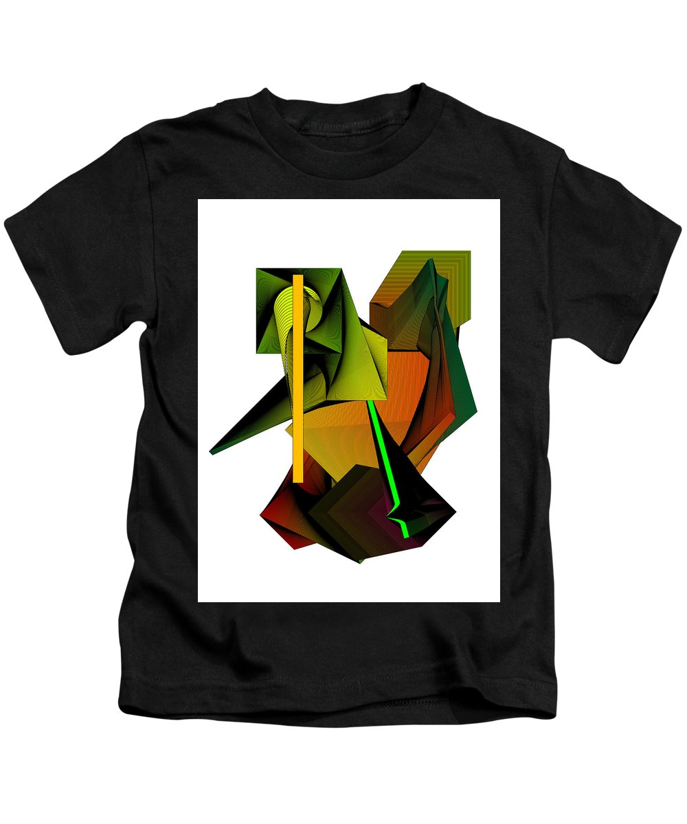 Composition Kids T-Shirt featuring the digital art Lighted Composiiton by Yasar Aleem