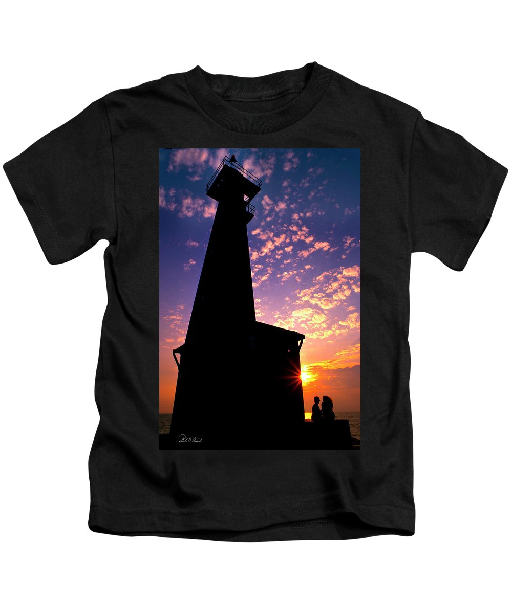 Photography Kids T-Shirt featuring the photograph Lighthouse Lovers by Frederic A Reinecke