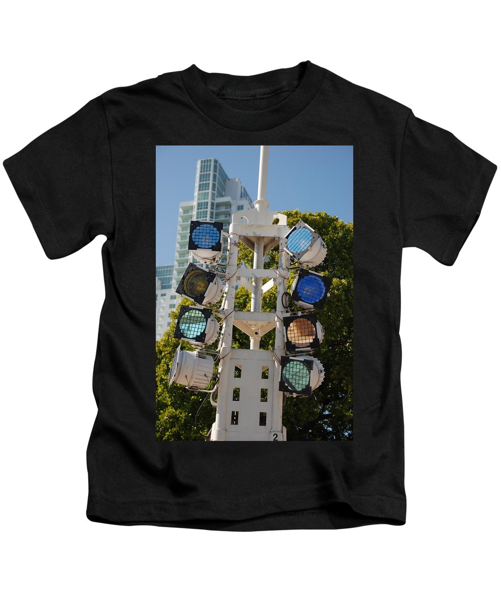 Lights Kids T-Shirt featuring the photograph Lights by Rob Hans