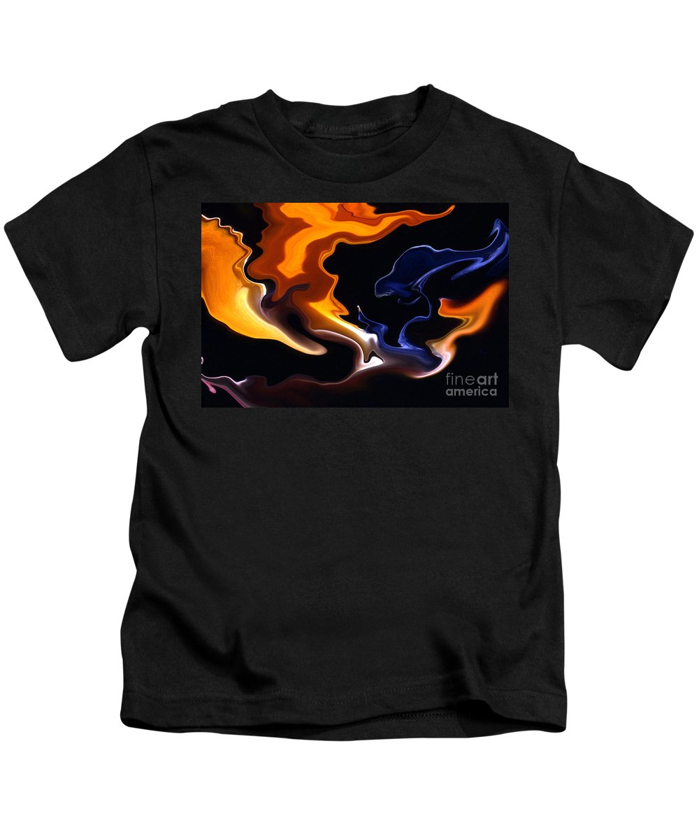 Abstract Kids T-Shirt featuring the photograph Liquid Paradise by Norman Andrus