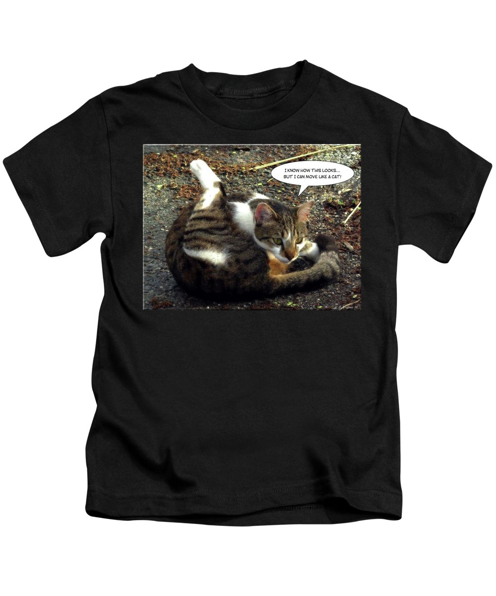 2d Kids T-Shirt featuring the photograph Like A Cat by Brian Wallace
