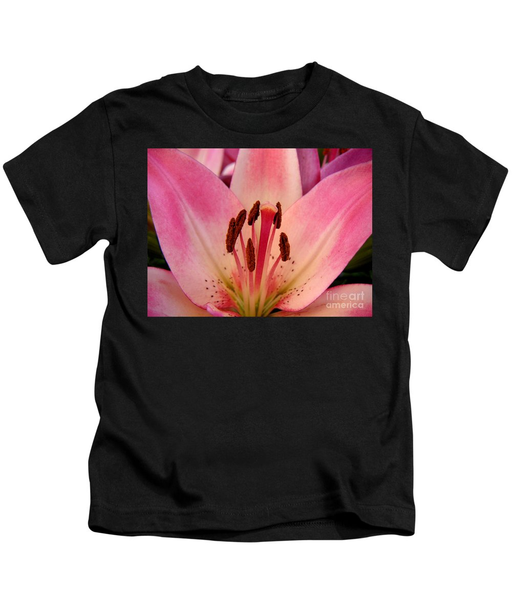 Nature Kids T-Shirt featuring the photograph Lily - An Intimate View by Lucyna A M Green