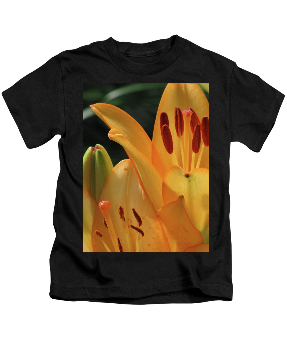 Lily Kids T-Shirt featuring the photograph Lily - American Cheerleader 33 by Pamela Critchlow