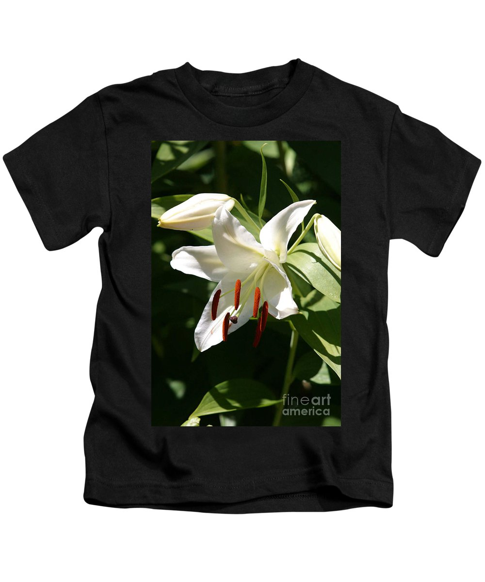 Arrangement Kids T-Shirt featuring the photograph Lily Of White by Alan Look