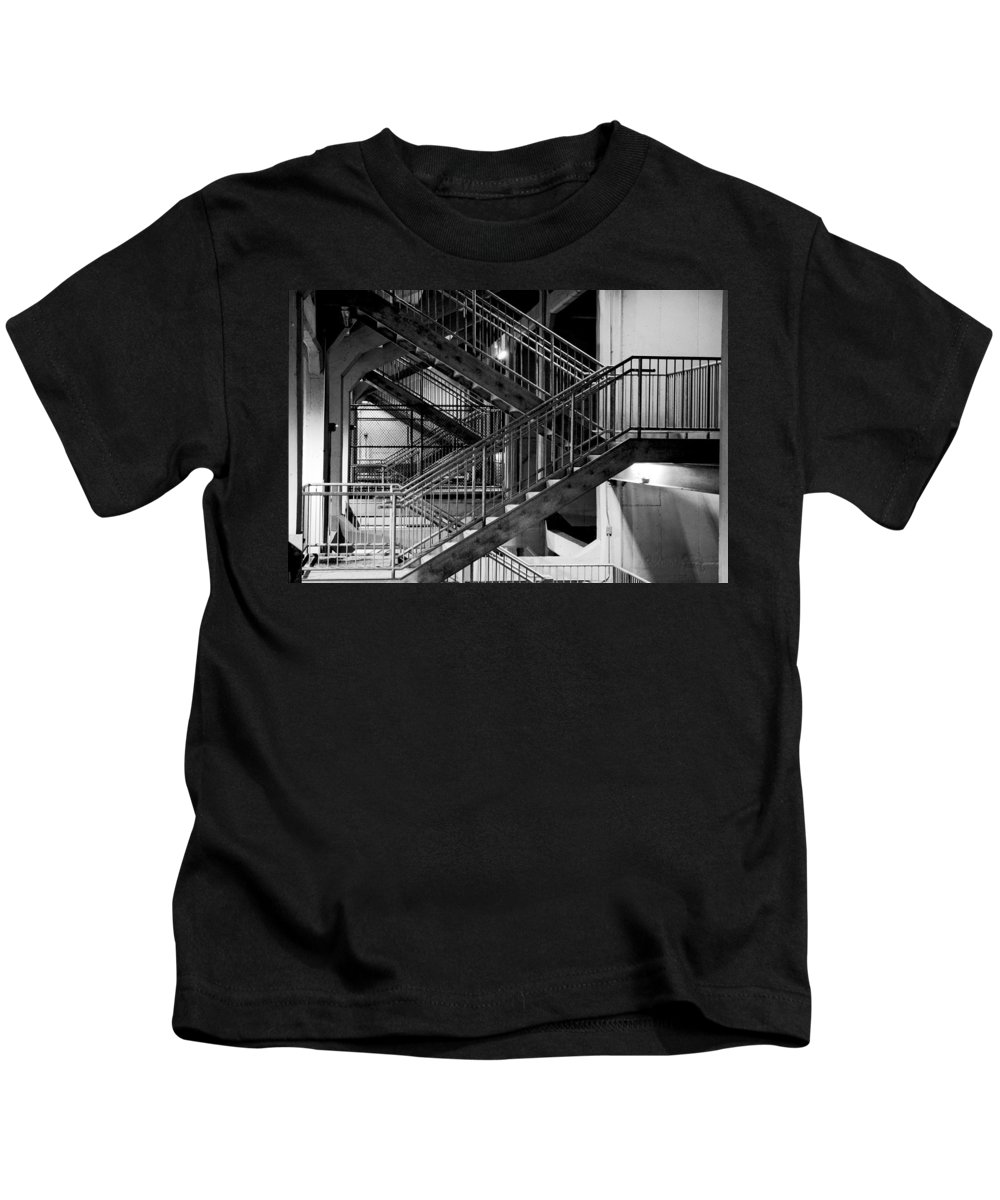 Stairs Kids T-Shirt featuring the photograph Lines by Greg Fortier