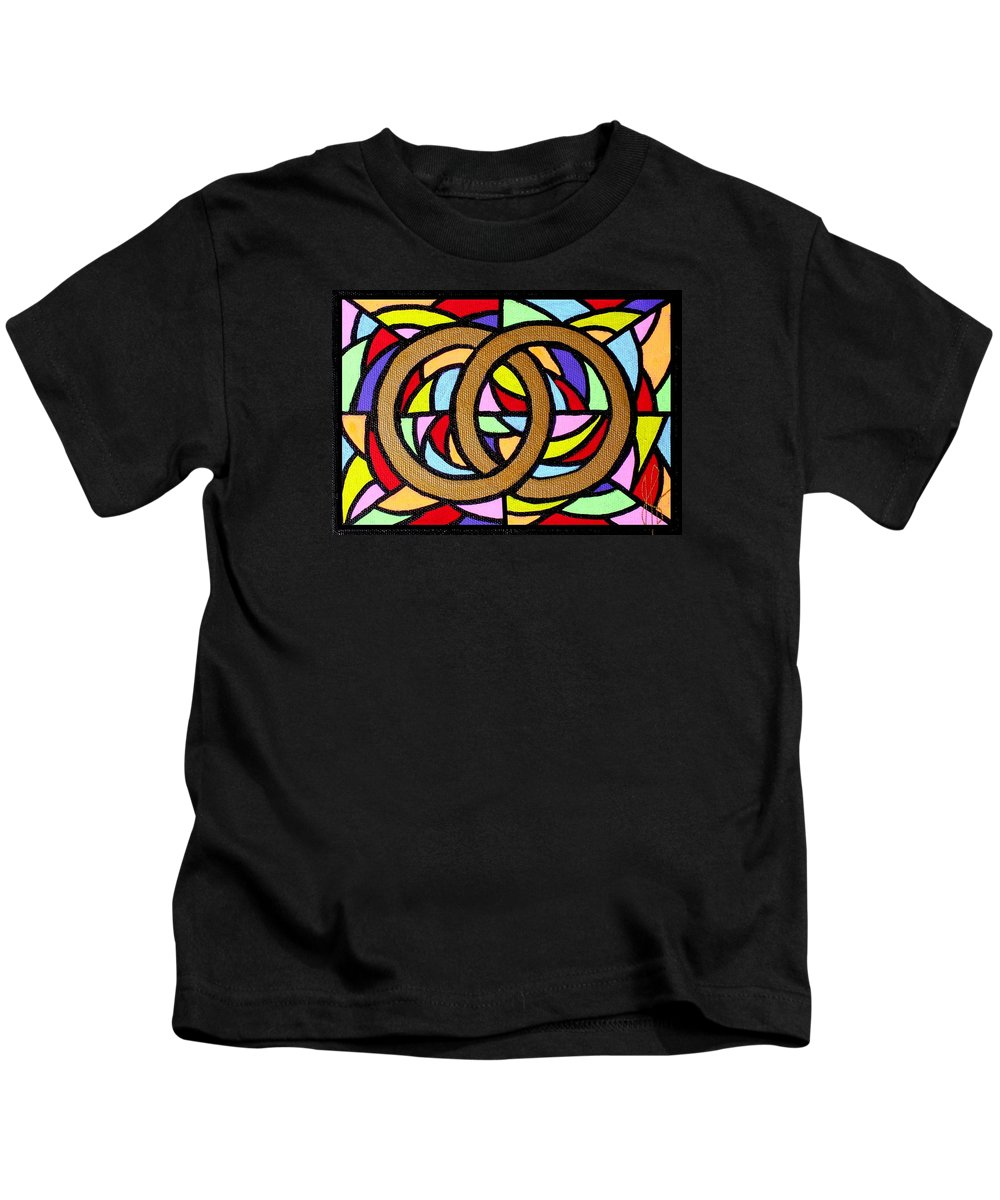 Wedding Kids T-Shirt featuring the painting Linked by Jim Harris