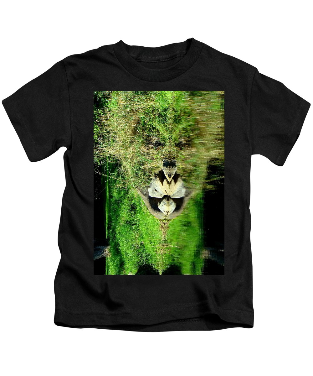 Abstract Landscape Kids T-Shirt featuring the photograph Lionel by Ronna Wilson