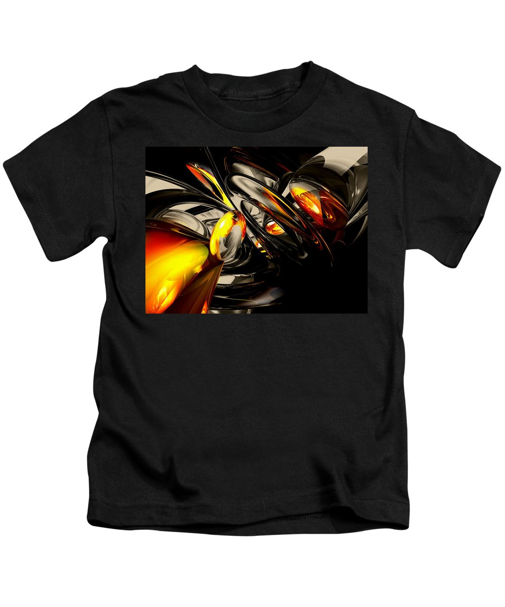 3d Kids T-Shirt featuring the digital art Liquid Chaos Abstract by Alexander Butler