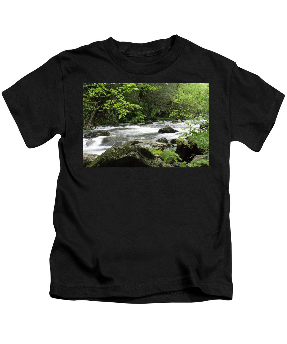 River Kids T-Shirt featuring the photograph Litltle River 1 by Marty Koch