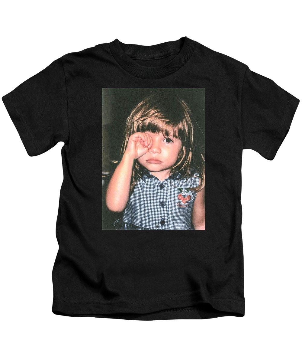 Child Kids T-Shirt featuring the photograph Little Girl Blue by Tom Zukauskas