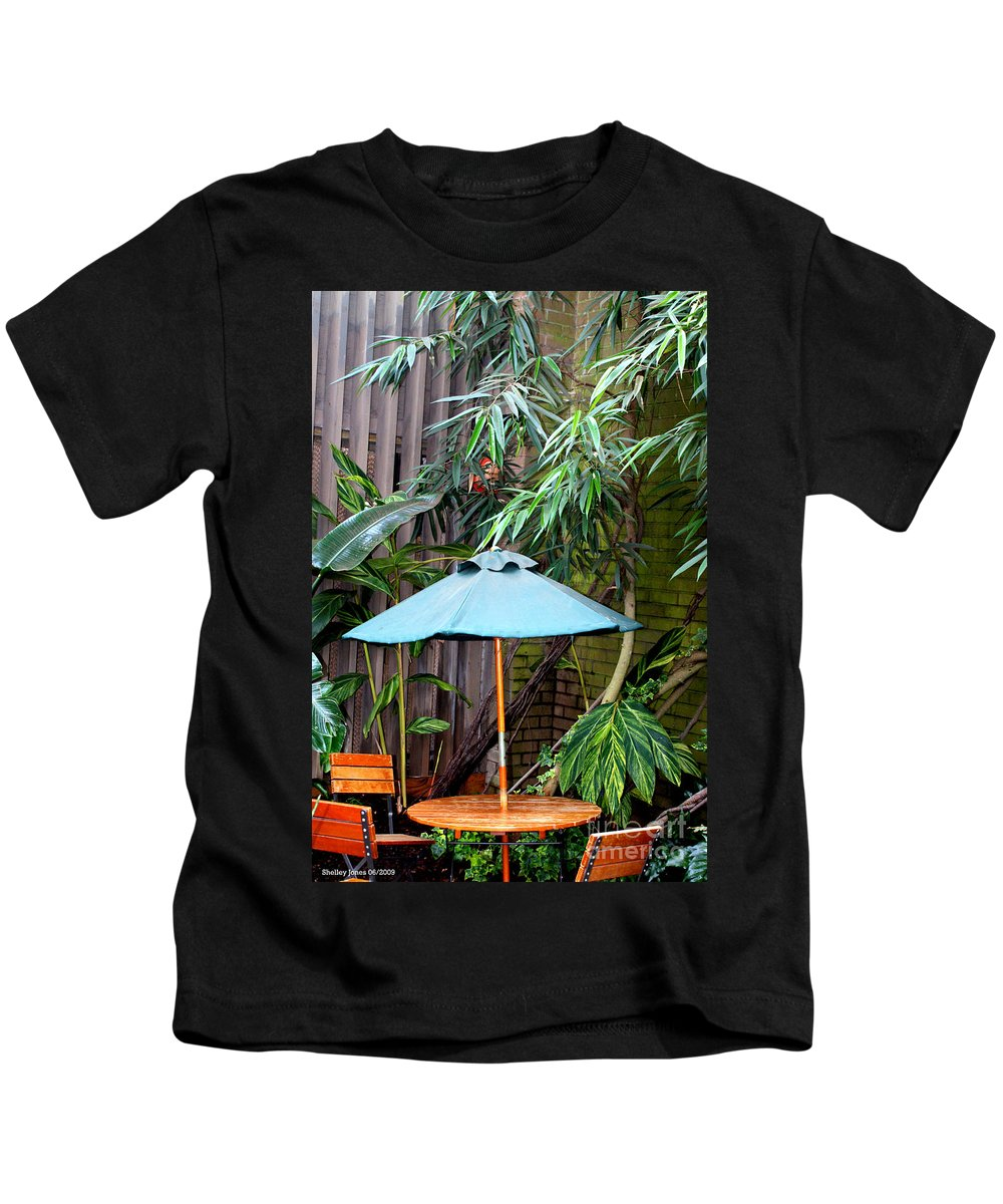 Photography Kids T-Shirt featuring the photograph Little Oasis by Shelley Jones