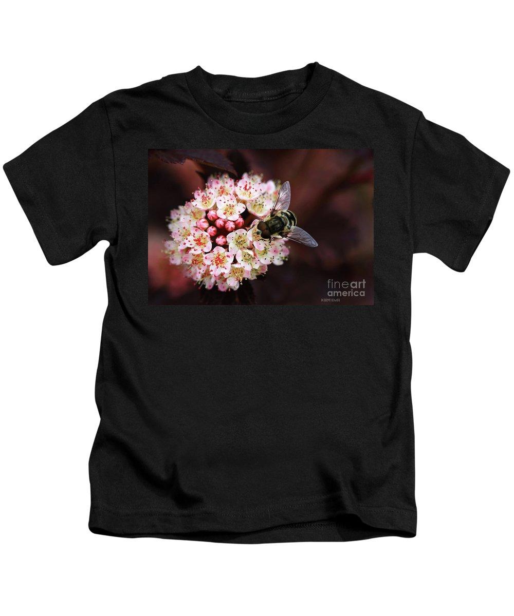 Flowers Kids T-Shirt featuring the photograph Little Pink Flowers by Deborah Benoit