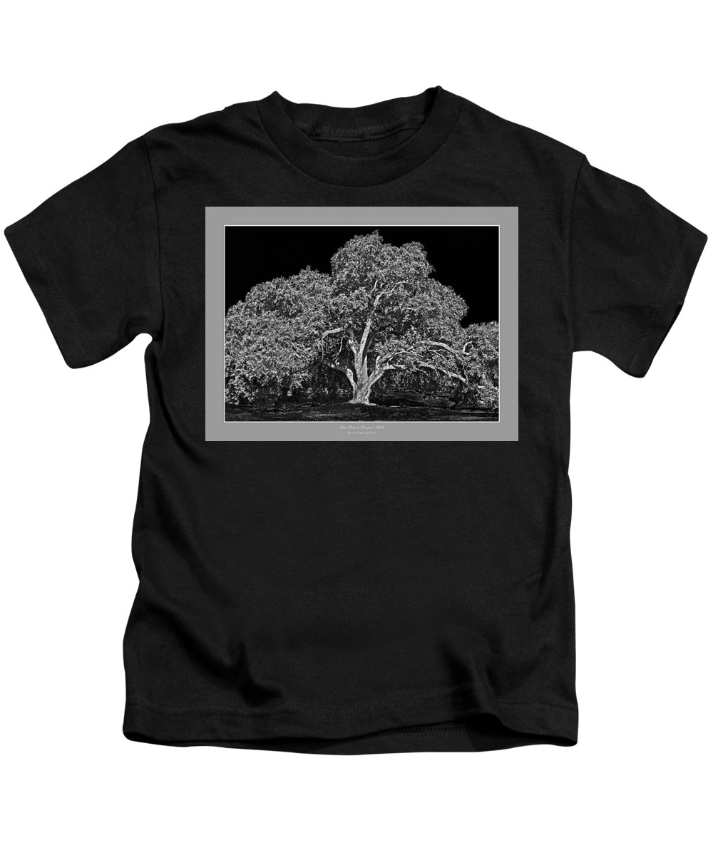 Trees Kids T-Shirt featuring the photograph Live Oak At Hogan's Hole- Lion's Golf Course by Jim Smith