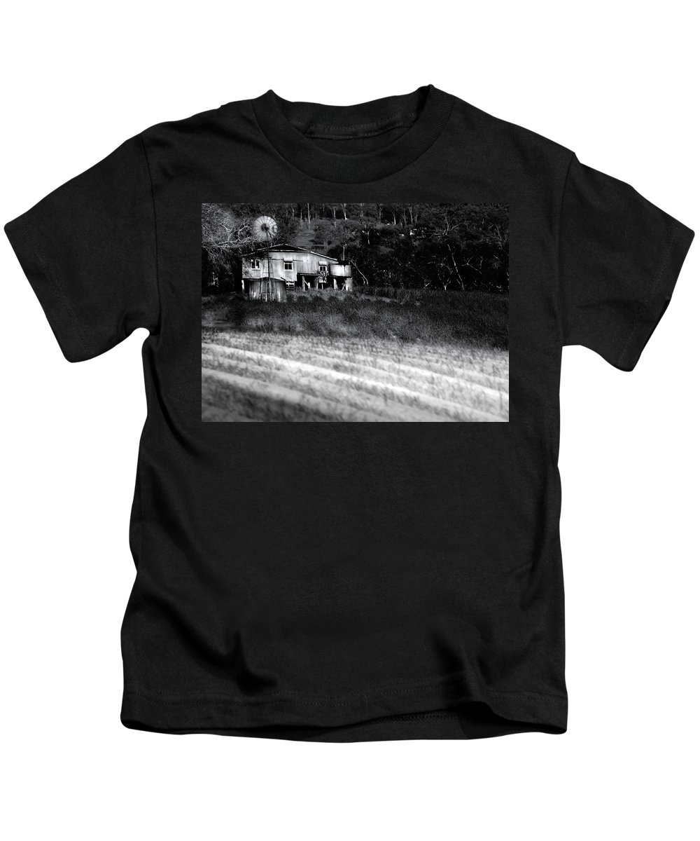 Landscapes Kids T-Shirt featuring the photograph Living On The Land by Holly Kempe