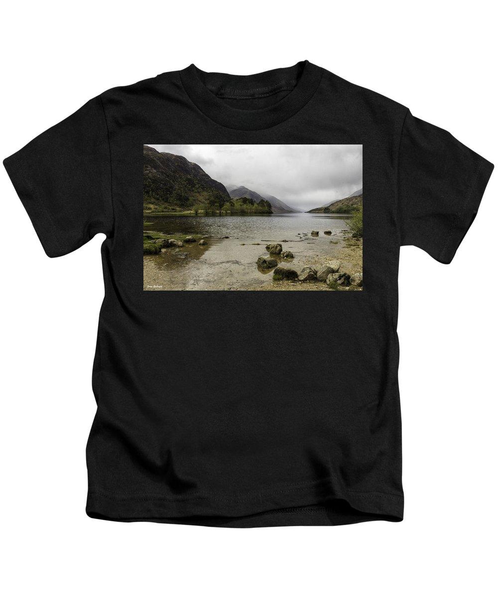 Loch Kids T-Shirt featuring the photograph Loch Shiel by Fran Gallogly