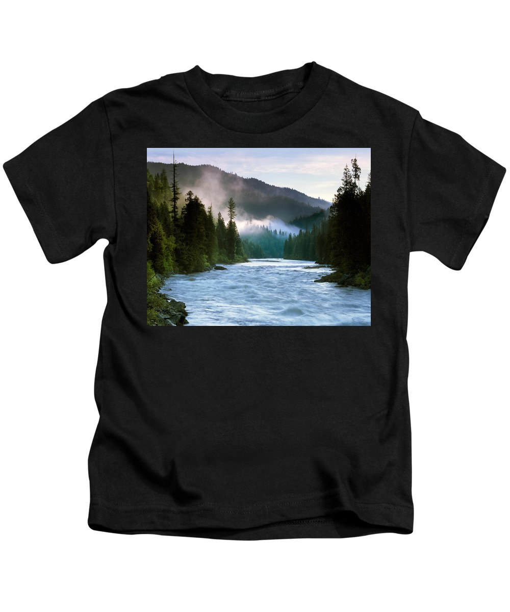 Lochsa River Kids T-Shirt featuring the photograph Lochsa River by Leland D Howard