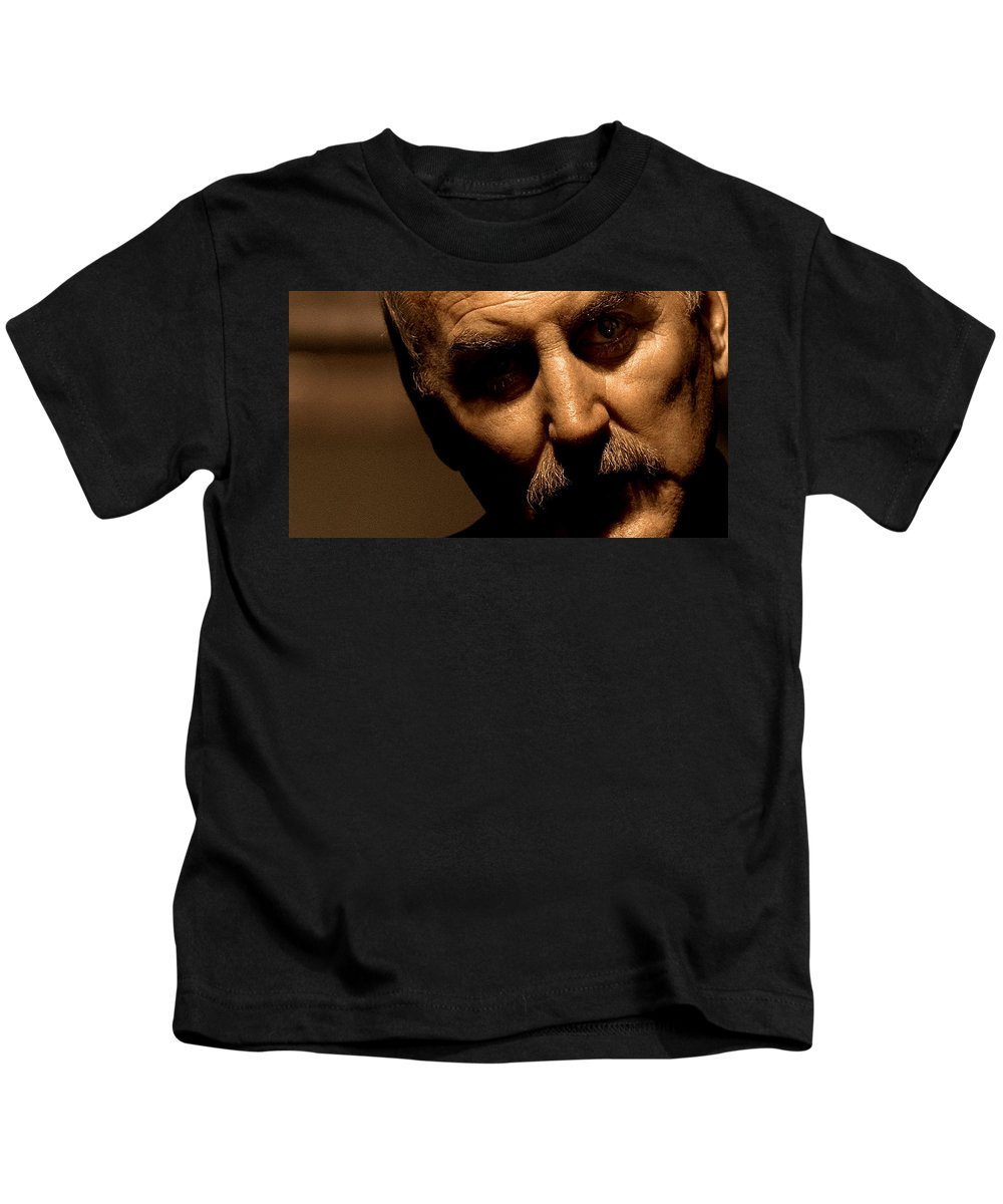Lock Kids T-Shirt featuring the digital art Lock, Stock And Two Smoking Barrels by Dorothy Binder