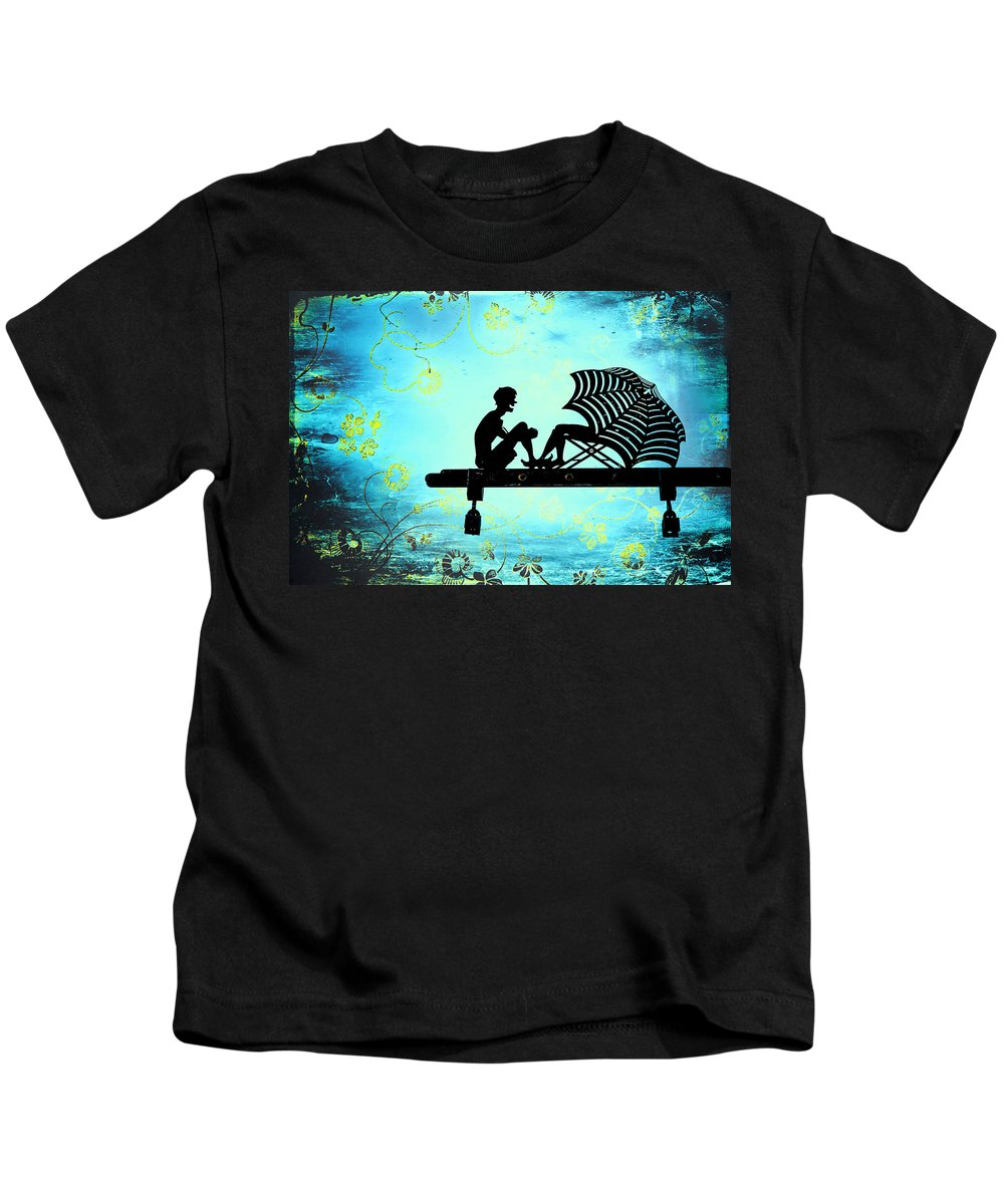 Beach Kids T-Shirt featuring the photograph Locks Of Love by Evelina Kremsdorf