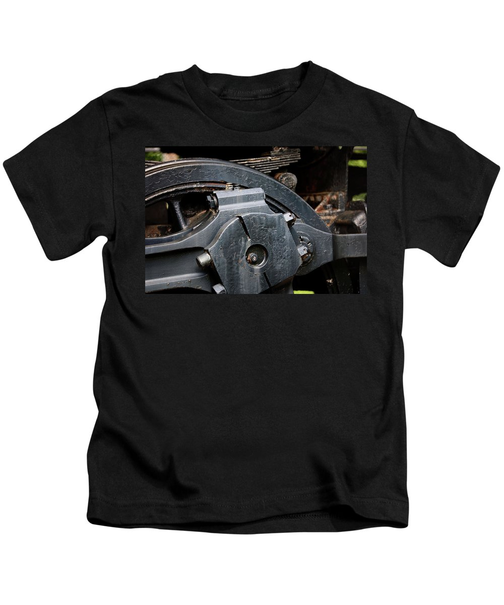 Antique Kids T-Shirt featuring the photograph Locomotion by Alan Look