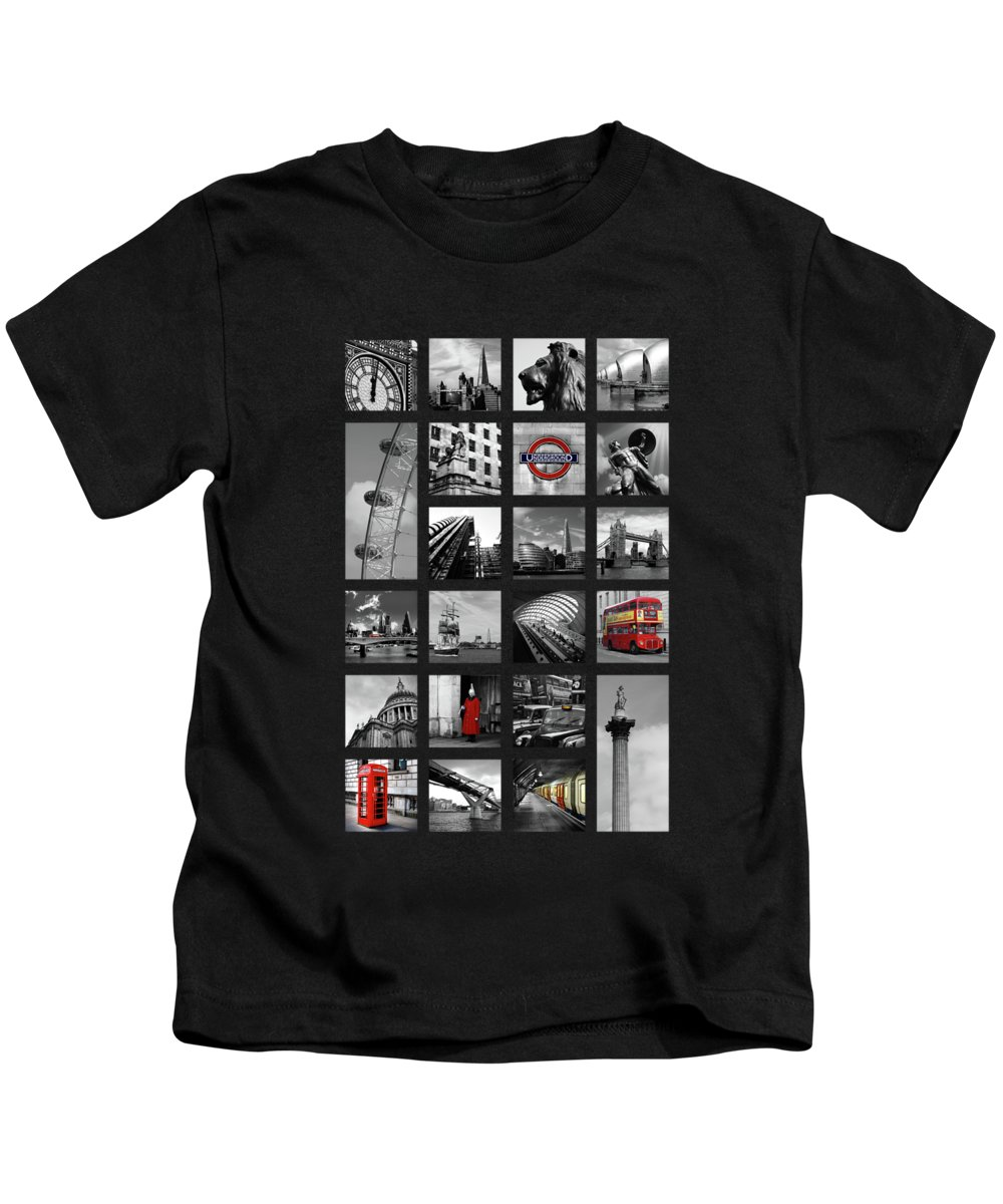 Tower Bridge Kids T-Shirt featuring the photograph London Squares by Mark Rogan