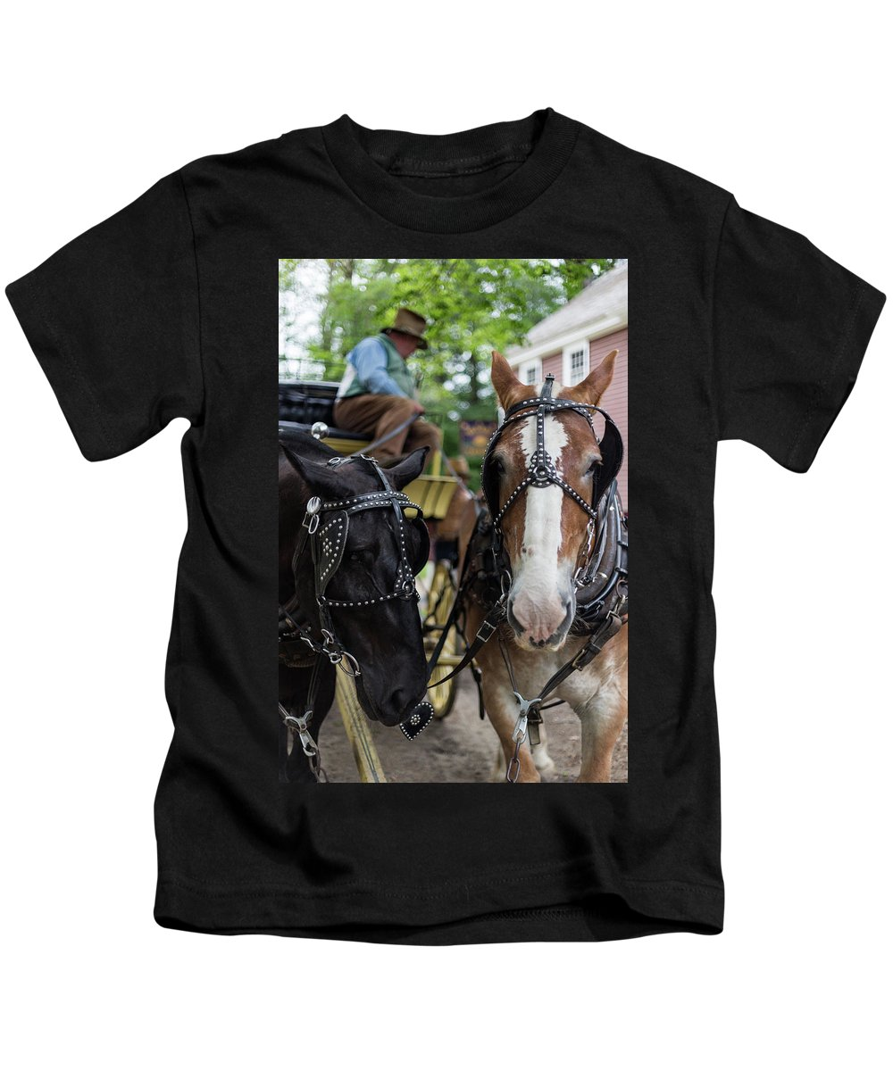 Old Sturbridge Village Kids T-Shirt featuring the photograph Look At The Camera by Bruce Coulter