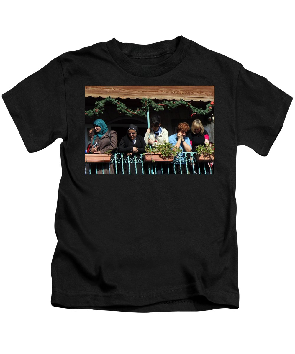 Christmas Kids T-Shirt featuring the photograph Looking Down by Munir Alawi