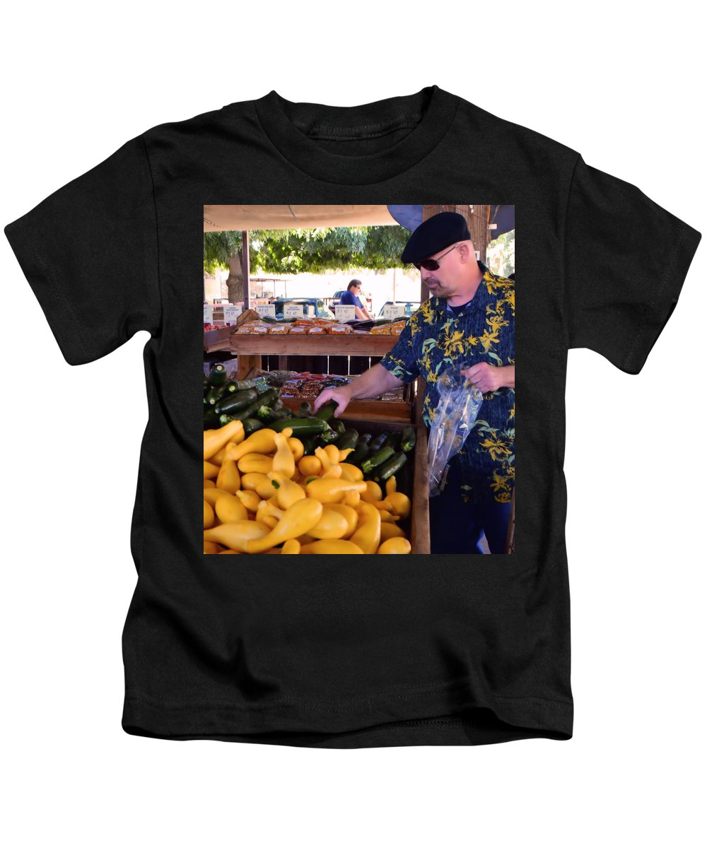Produce Kids T-Shirt featuring the photograph Looking For The Best by Josephine Buschman