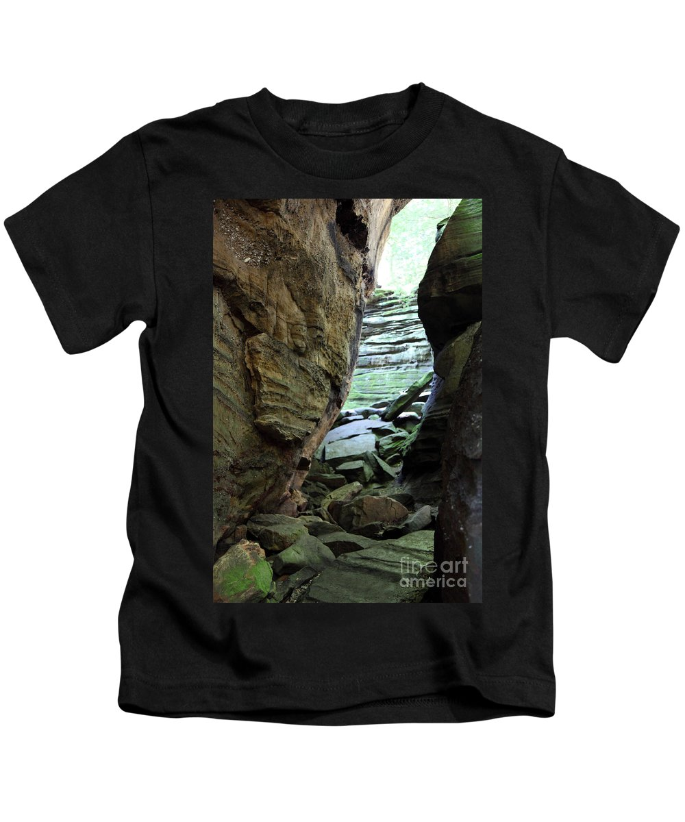 Faces Kids T-Shirt featuring the photograph Looking Glass by Amanda Barcon
