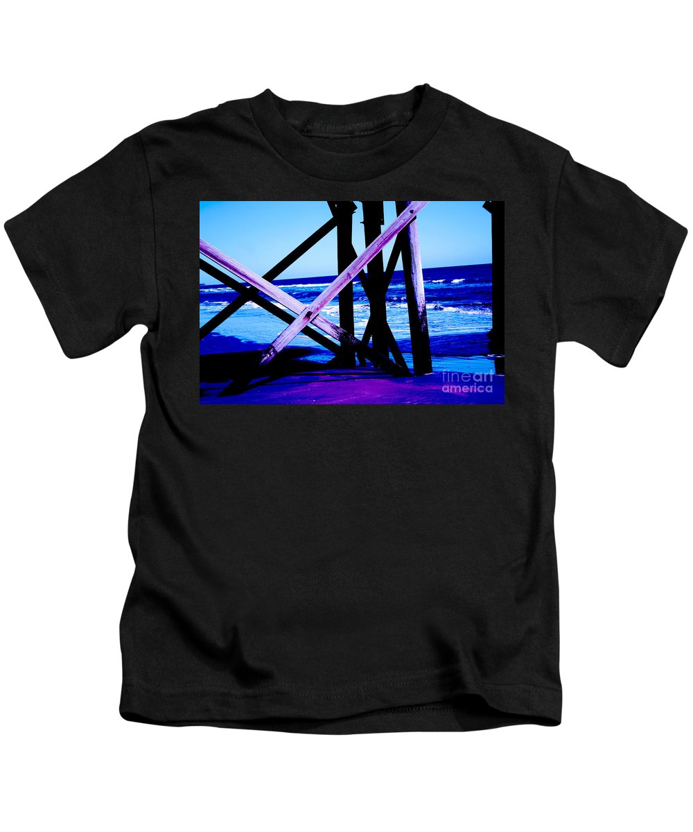 Blue Kids T-Shirt featuring the photograph Looking On - Blue by Jamie Lynn