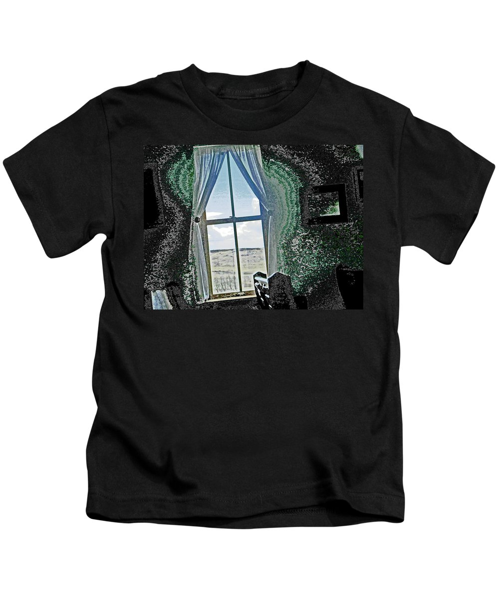 Abstract Kids T-Shirt featuring the photograph Looking Through To The Other Side by Lenore Senior
