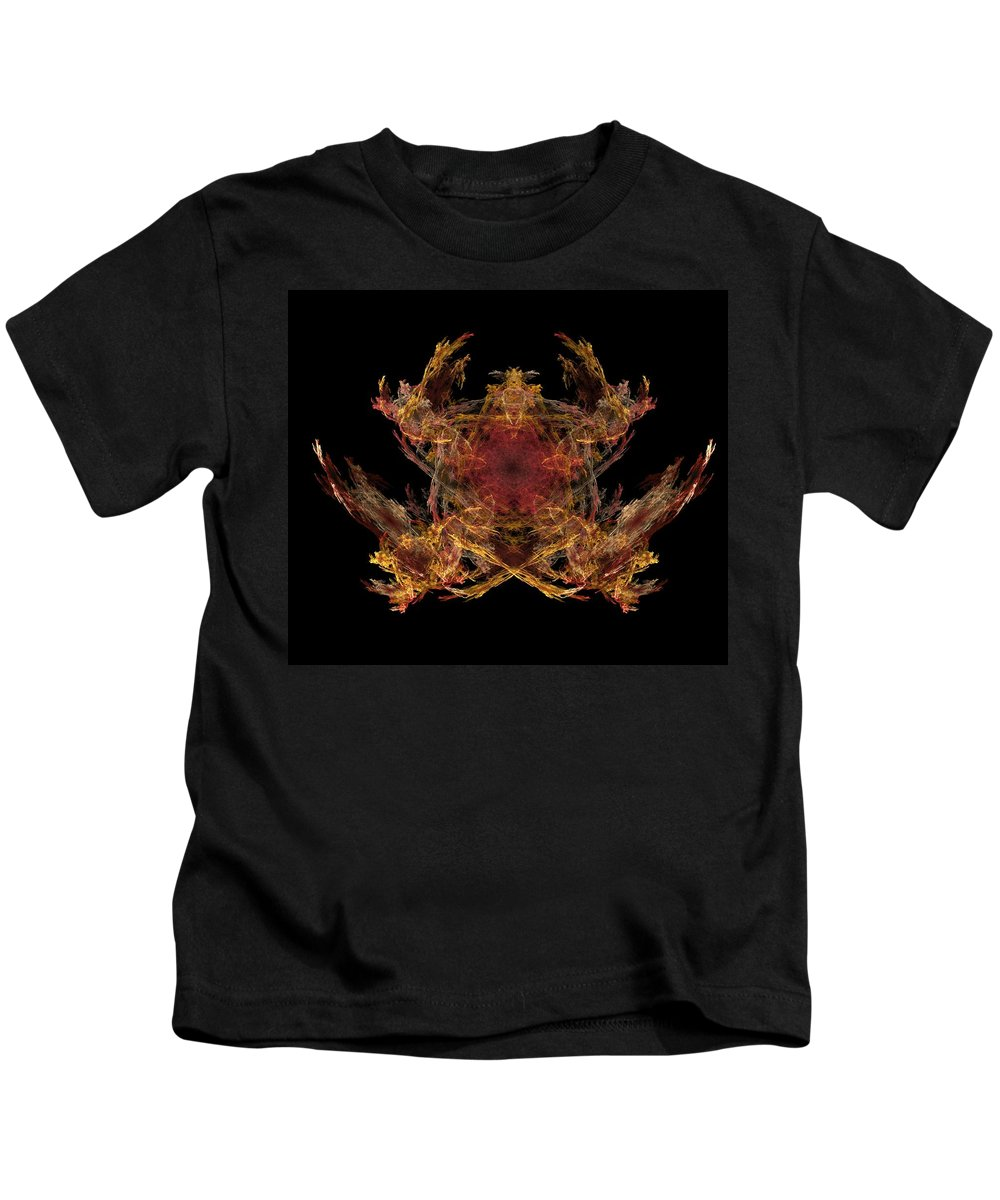 Fantasy Kids T-Shirt featuring the digital art Lord Of The Flies by David Lane