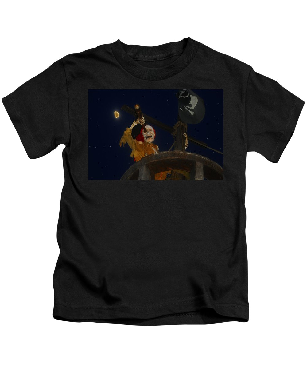 Pirate Kids T-Shirt featuring the painting Lost Dutchman by David Lee Thompson