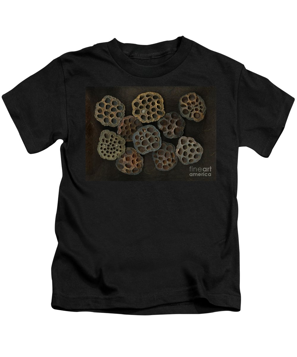 Lotus Kids T-Shirt featuring the photograph Lotus Pods by Christian Slanec