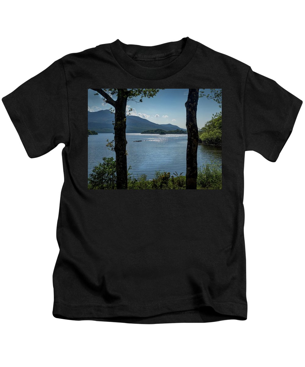 Earl Of Kenmare Kids T-Shirt featuring the photograph Lough Leane by Mark Llewellyn