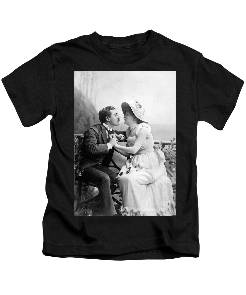 1890 Kids T-Shirt featuring the photograph Love, C1890 by Granger