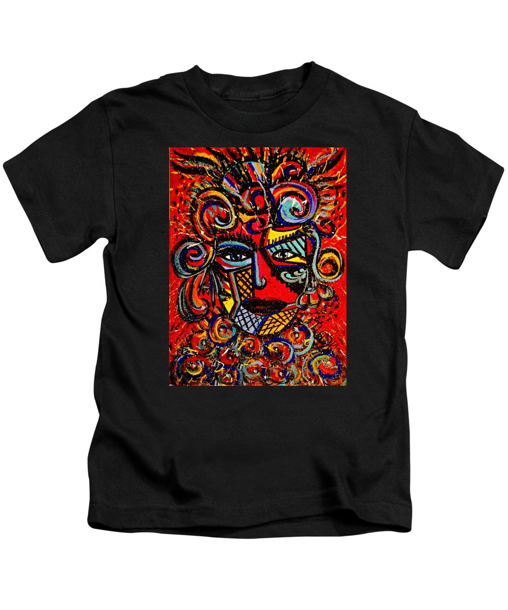 Love Goddess Kids T-Shirt featuring the painting Love Goddess by Natalie Holland
