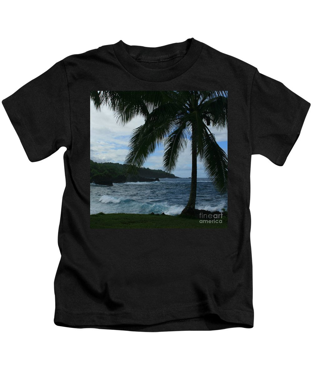 Aloha Kids T-Shirt featuring the photograph Love Is Eternal - Poponi Maui Hawaii by Sharon Mau