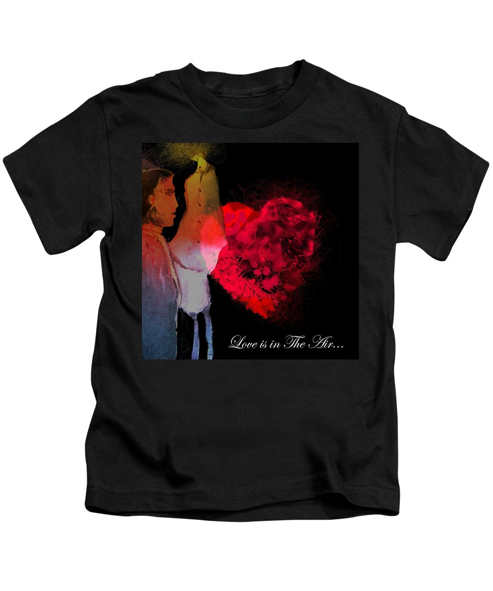 Love Kids T-Shirt featuring the painting Love Is In The Air by Miki De Goodaboom