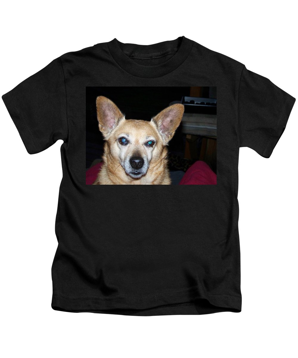 Digital Artwork Kids T-Shirt featuring the photograph Loyalty by Laurie Kidd