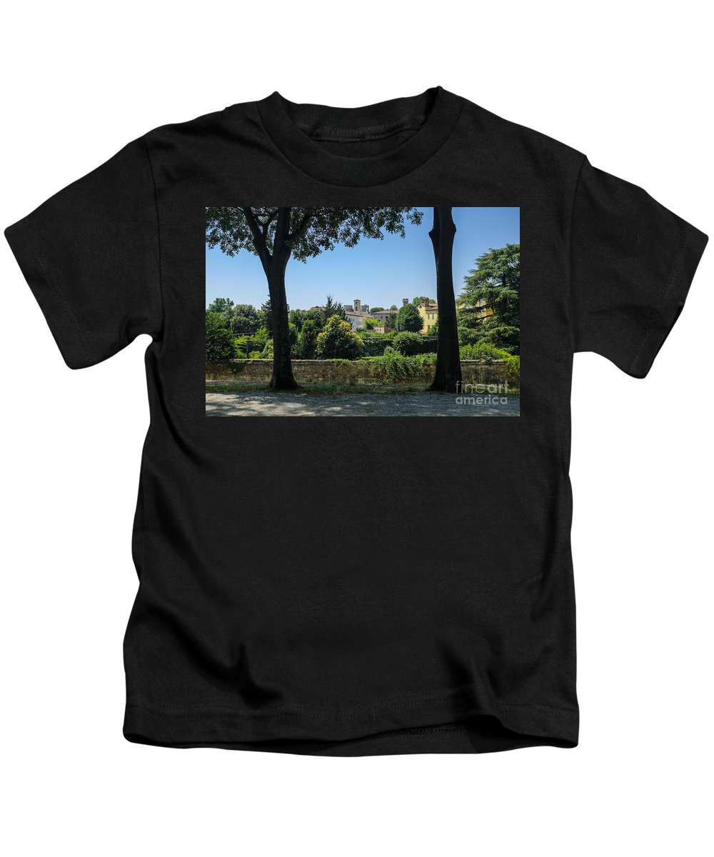 Wall Kids T-Shirt featuring the photograph Lucca Italy by Edward Fielding