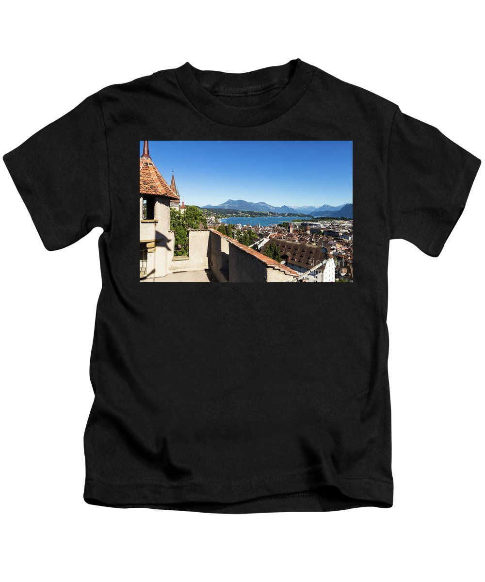 Europe Kids T-Shirt featuring the photograph Lucerne Old Town In Switzerland by Didier Marti